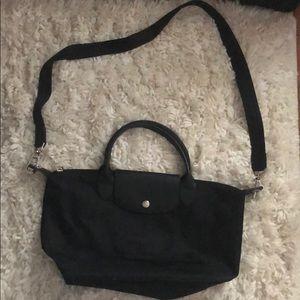 Medium sized longchamp bag with crossbody strap